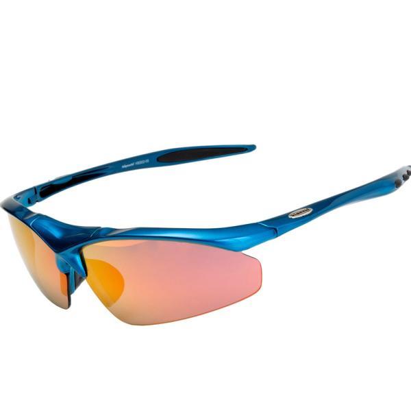 スポーツサングラス 偏光 サングラス スポーツ UVカット メンズ レディース 野球 サイクリング ゴルフ HSG02-5|higashi-corp|23