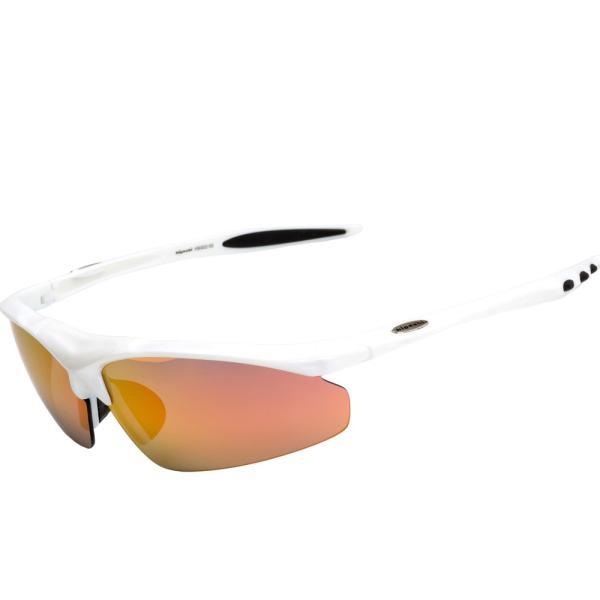 スポーツサングラス 偏光 サングラス スポーツ UVカット メンズ レディース 野球 サイクリング ゴルフ HSG02-5|higashi-corp|24