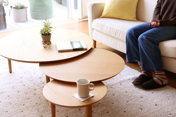 こんなの欲しかった!! 木の温もりあるオシャレな丸テーブル