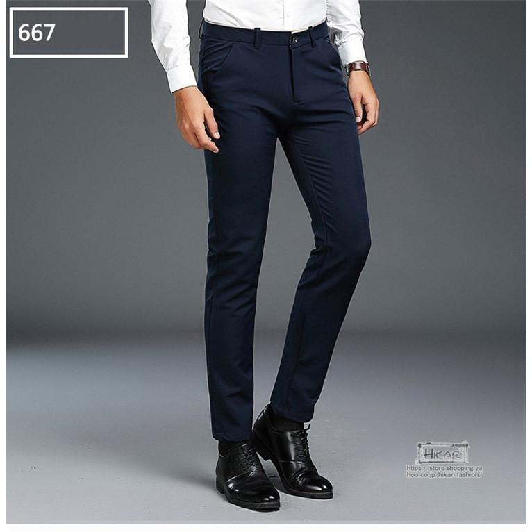 スキニーパンツ メンズ スラックス チノパン ビジネス ボトムス ストレッチ スリム 美脚 フォーマル 通勤 父の日|hikari-fashion|17