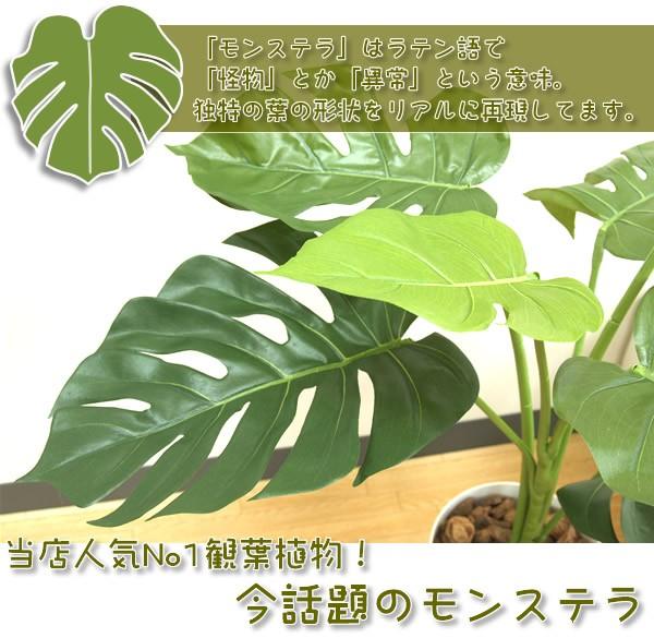 今話題のモンステラ アジアン インテリア 人工観葉植物