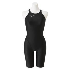 ミズノ MIZUNO 競泳水着 レディース fina承認 ハーフスーツ(レースオープンバック) STREAM ACE ストリームフィットA N2MG0222|SWIMSHOPヒカリスポーツ