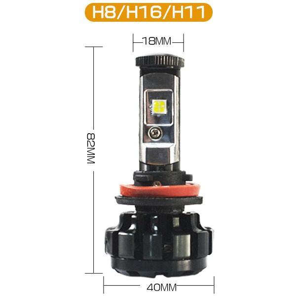 送料無料 LED ヘッドライト フォグランプ CREE XHP50チップを凌ぐ 19200LM H4 Hi/Lo H7/H8/H11/H16/HB3/HB4 12V 車検対応 2年保証 即納 2個セットW2 hikaritrading1 09