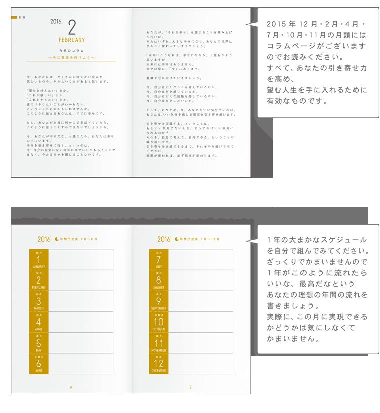 引き寄せ手帳2016の特徴2