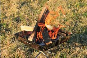 火の大きさを調整する