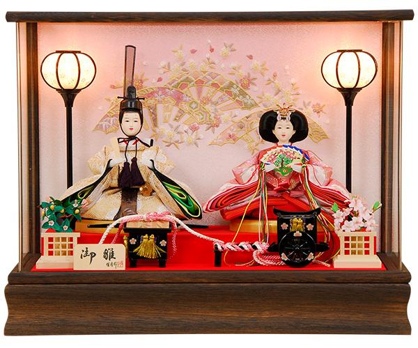 k116 雛人形 ケース飾り