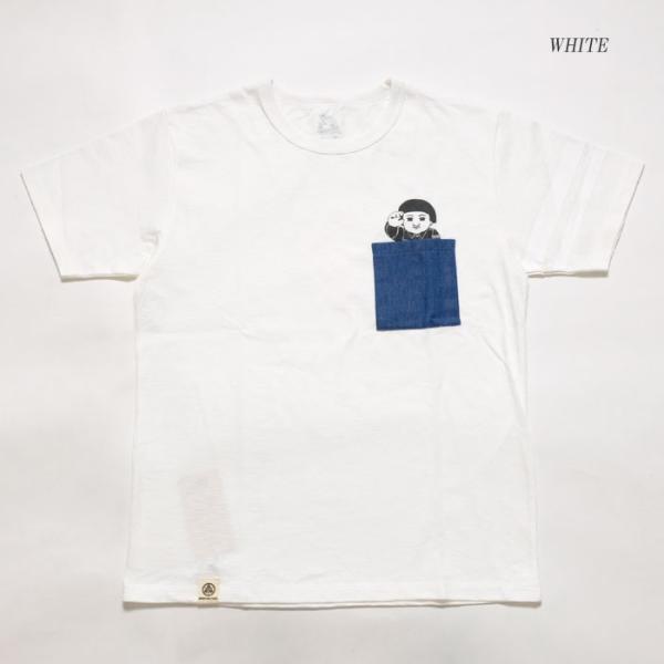 MOMOTARO JEANS (桃太郎ジーンズ)  Lot.07-066 8.2オンス デニムポケット Tシャツ 07-066|hinoya-ameyoko|07
