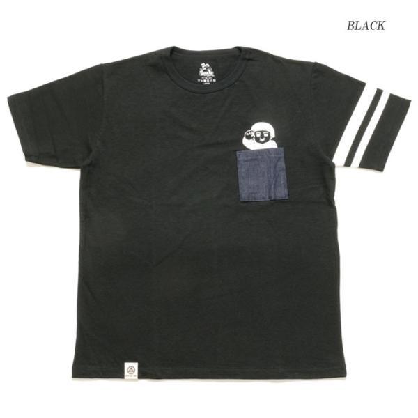 MOMOTARO JEANS (桃太郎ジーンズ)  Lot.07-066 8.2オンス デニムポケット Tシャツ 07-066|hinoya-ameyoko|08