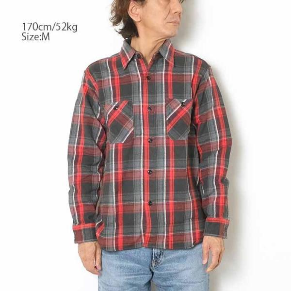 SUGARCANE(シュガーケーン) ツイルチェック 長袖ワークシャツ SC28238|hinoya-ameyoko|08