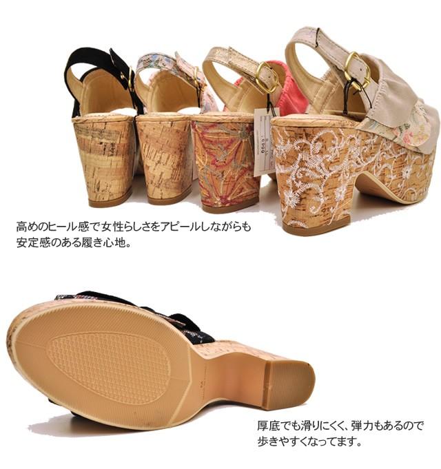 YOSUKE U.S.A ヨースケ  フリルオープントゥサンダル 靴