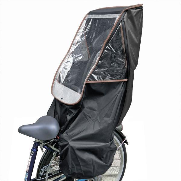 自転車 子供乗せ チャイルドシート レインカバー HIRO 日本製 後ろ用 リア用  送料無料 ブラック ベース 透明シート強化・撥水加工 SCC-1807-BK-02|hiroaandk|11