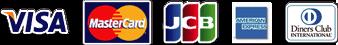 VISA、mastercard,jcb,americanexpress,diners club