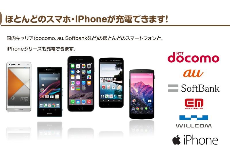 iPhoneシリーズへ充電する際は、iPhone専用の充電ケーブルが別途必要になります。