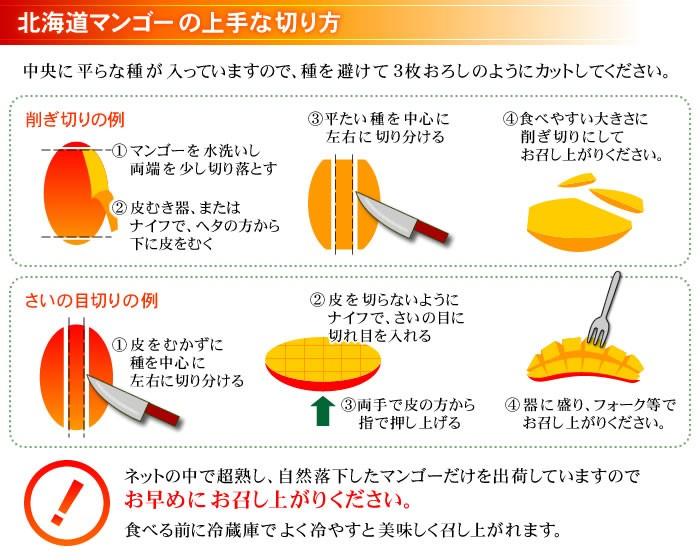 したたる美味しさ、とろける香り 北海道産 神内マンゴー