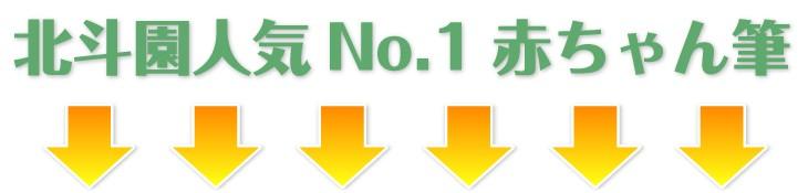 北斗園人気No.1 赤ちゃん筆
