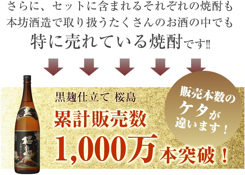 黒麹仕立て桜島の累計販売数は1000万本突破!