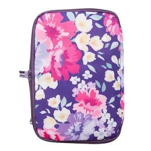 圧縮バッグ トラベルポーチ かわいい ファスナー式 花柄 パープル アイボリー|homegoody-wg|10
