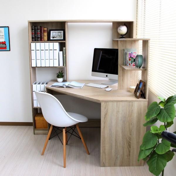 パソコンデスク l字 L字型 コーナー 幅125cm 幅100cm 収納 ブラウン 机 オフィスデスク リモートワーク テレワーク 在宅勤務 ホームオフィス PD001 セール|homestyle|22