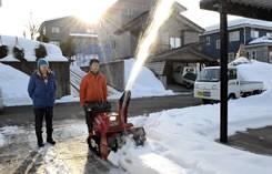 雪があれば実際に除雪をしてみたり・・・