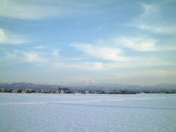 冬の田んぼ風景