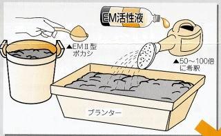 プランターで土作り