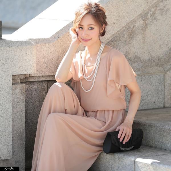 パーティードレス パンツドレス パンツスタイル 20代 30代 結婚式 ネイビー ベージュ ブラック M L LL 3L 大きいサイズ 送料無料|hongkongmadam|23