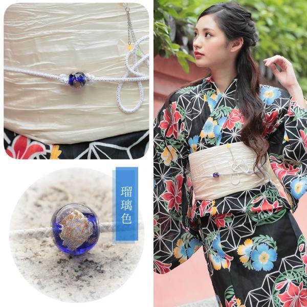 帯飾り選べる 正絹紐つきガラス製とんぼ玉飾り(d1258)帯紐 浴衣 レディース 小物 単品 hongkongmadam 25