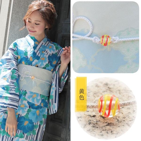 帯飾り選べる 正絹紐つきガラス製とんぼ玉飾り(d1258)帯紐 浴衣 レディース 小物 単品 hongkongmadam 20