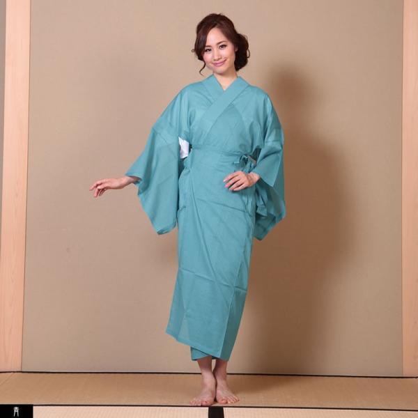 浴衣 夏着物用インナー レディース 襦袢(d1263) ユカタ ゆかた 和装 和服 女性 長じゅばん 夏 下着 肌着 衣装|hongkongmadam|22