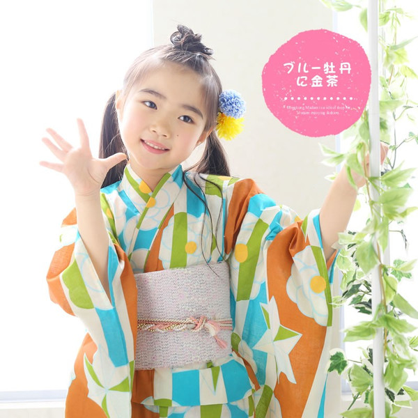 浴衣 子供 女の子 選べる キュートな 11柄 レトロ フラット キッズ 浴衣|hongkongmadam|29
