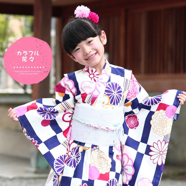浴衣 子供 女の子 選べる キュートな 11柄 レトロ フラット キッズ 浴衣|hongkongmadam|26