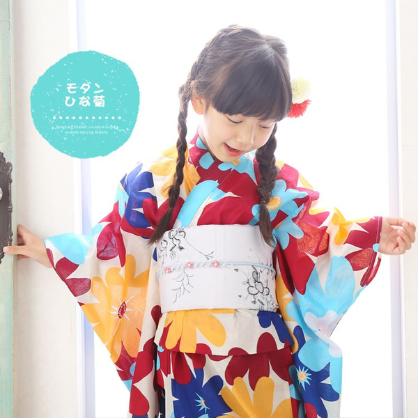 浴衣 子供 女の子 選べる キュートな 11柄 レトロ フラット キッズ 浴衣|hongkongmadam|31