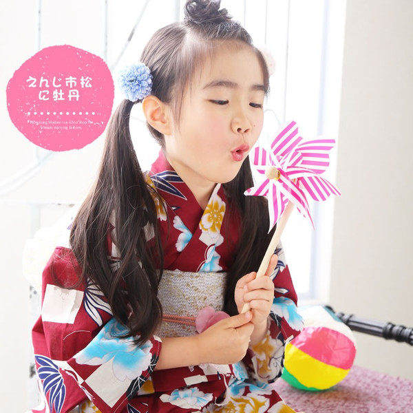 浴衣 子供 女の子 選べる キュートな 11柄 レトロ フラット キッズ 浴衣|hongkongmadam|24