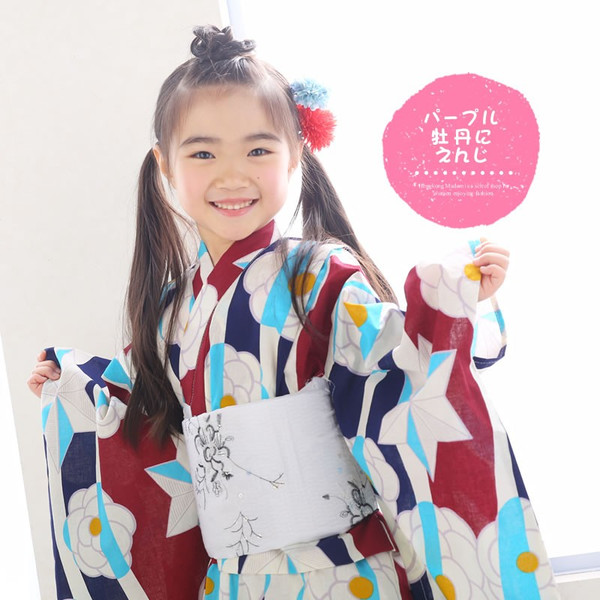 浴衣 子供 女の子 選べる キュートな 11柄 レトロ フラット キッズ 浴衣|hongkongmadam|30
