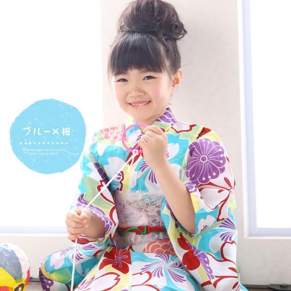 浴衣 子供 女の子 古典柄 レトロ キッズ 浴衣|hongkongmadam|10