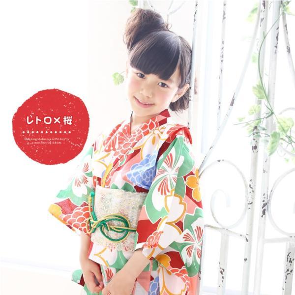 浴衣 子供 女の子 古典柄 レトロ キッズ 浴衣|hongkongmadam|11