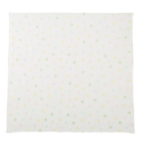 ミキハウス ダブルガーゼ素材のマルチケット 出産祝い 白 黄 グリーン みどり マルチカラー --- MIKIHOUSE hotbiscuits 11
