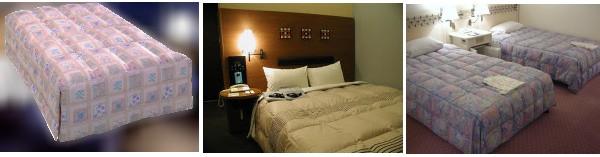ホテルの羽毛ベッドカバー ボックスタイプ