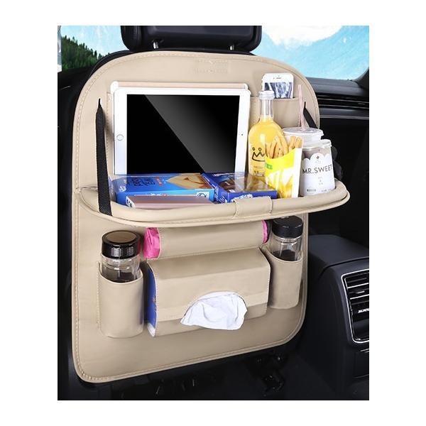 車 車内 収納 ポケット シートバックポケット ドリンクホルダー ティッシュ 後部座席 テーブル 大容量|houjyou-store|15