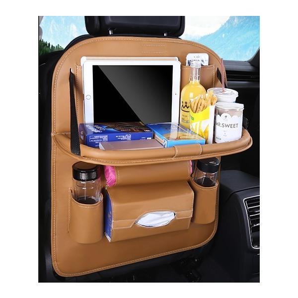 車 車内 収納 ポケット シートバックポケット ドリンクホルダー ティッシュ 後部座席 テーブル 大容量|houjyou-store|14
