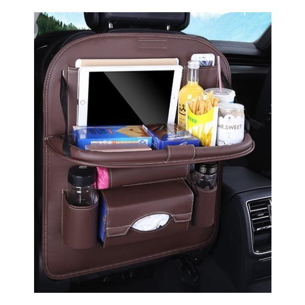 車 車内 収納 ポケット シートバックポケット ドリンクホルダー ティッシュ 後部座席 テーブル 大容量|houjyou-store|16