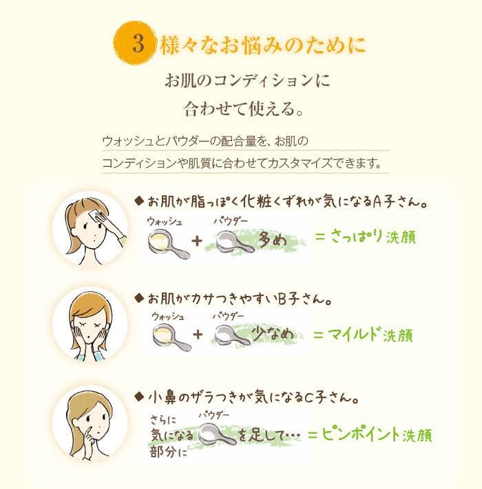 【3】様々なお悩みのために。お肌のコンディションに合わせて使える。