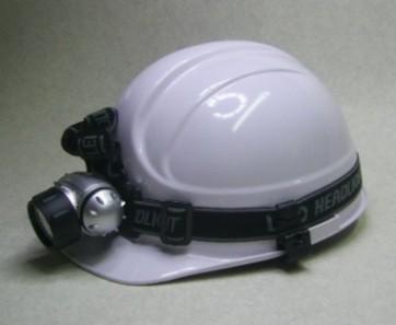 ヘッドライト付ヘルメット!