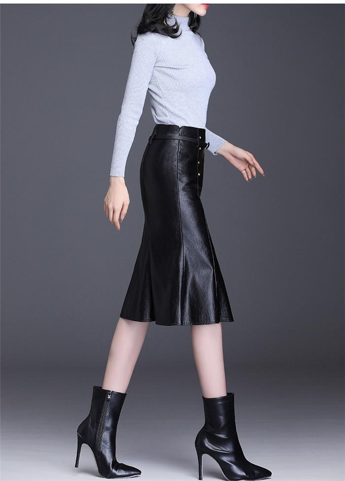 タイトスカート レザースカート19nkz621