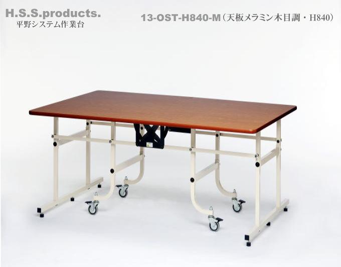 折りたたみ作業台 中型(天板メラミン木目調) H840