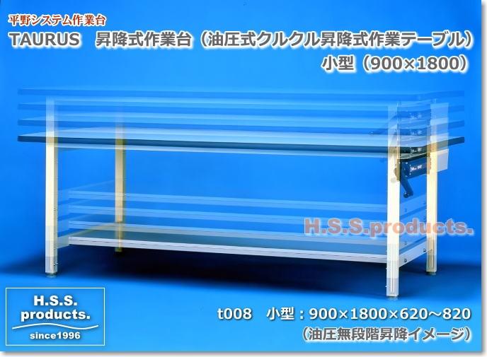 油圧式 昇降作業台 小型 平野システム作業台 油圧式昇降で簡単昇降!