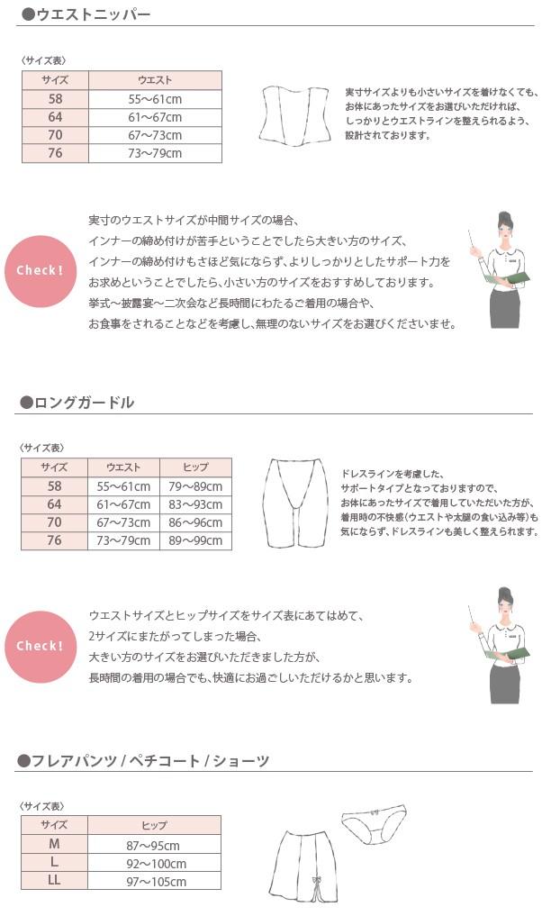 ウエストニッパー、ガードル、フレアパンツサイズの選び方3