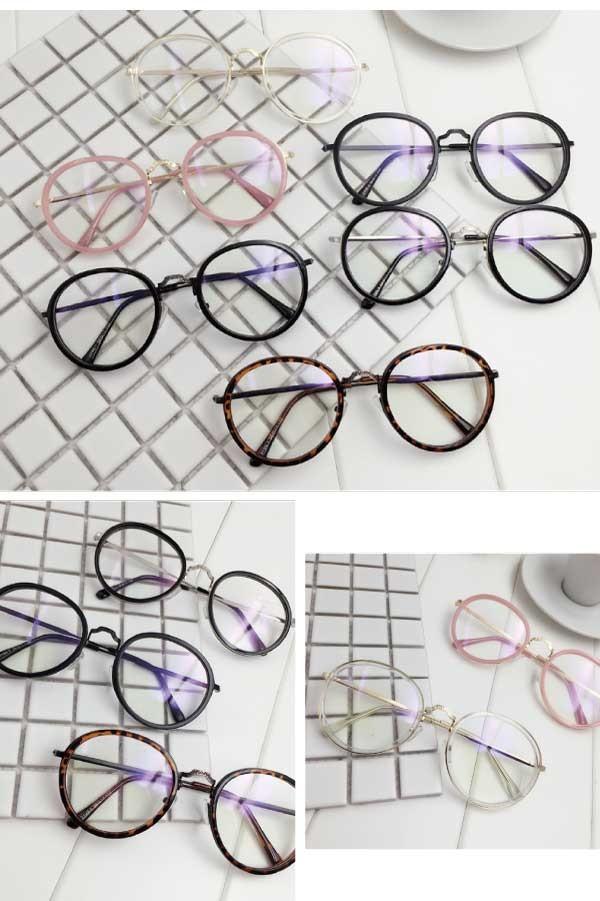 プックリフレーム伊達眼鏡