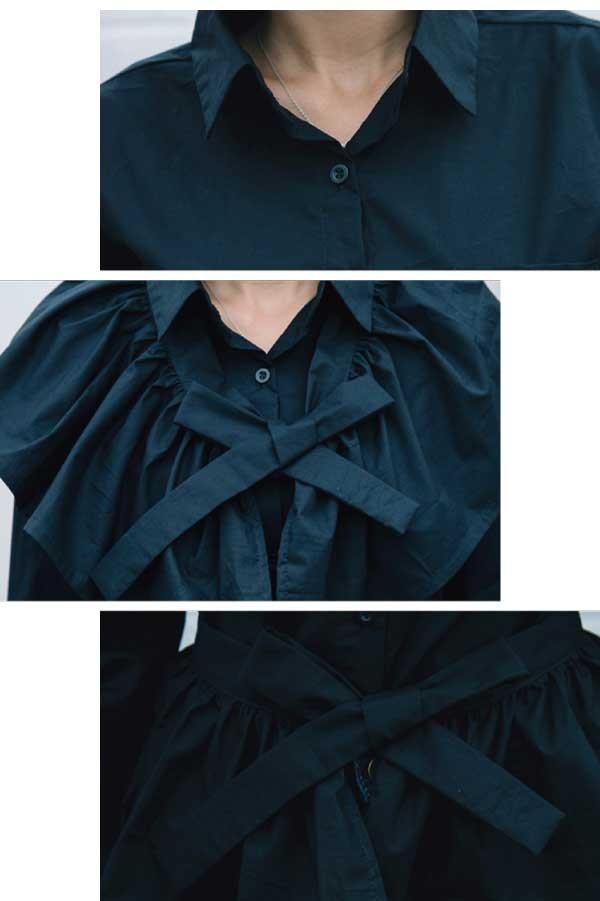 3wayシャツウエストリボン