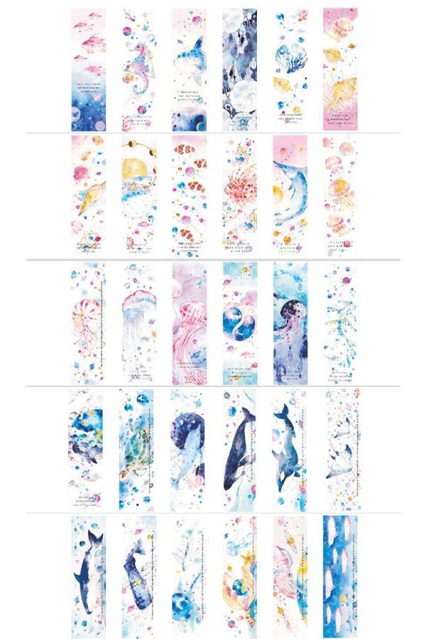 海洋生物海メッセージカード